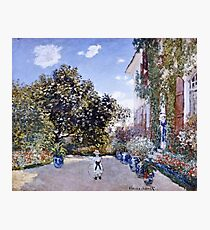 Claude Monet - Garden Of The Artist At Argenteuil 1873  Photographic Print