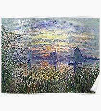 Claude Monet - Marine View With A Sunset 1875  Poster