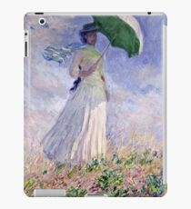 Claude Monet - Woman With A Parasol Turned To The Right 1886  iPad Case/Skin