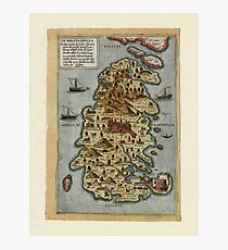 Map Of Malta 1565 Photographic Print
