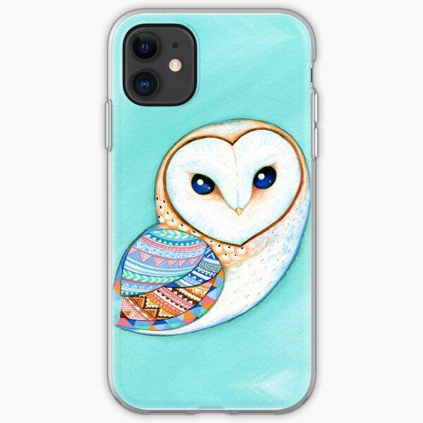 Tribal Pattern Barn Owl iPhone Soft Case