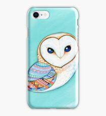 Tribal Pattern Barn Owl iPhone Case/Skin
