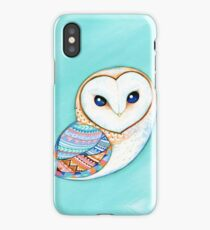 Tribal Pattern Barn Owl iPhone Case