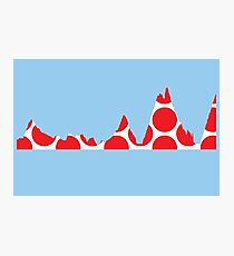 Red Polka Dot Mountain Profile Photographic Print