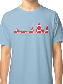 Red Polka Dot Mountain Profile Classic T-Shirt