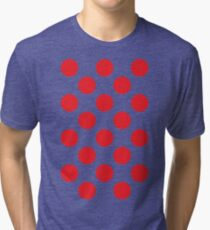 Red Polka Dot (King of the Mountains) Tri-blend T-Shirt