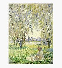 Claude Monet - Woman Seated Under The Willows 1880  Photographic Print