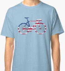 Bike Flag USA (Big) Classic T-Shirt