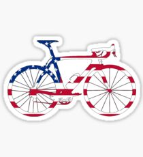 Bike Flag USA (Big) Sticker