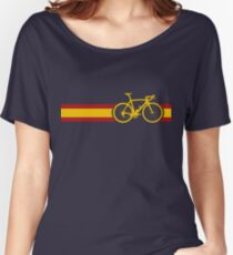 Bike Stripes Spanish National Road Race Women's Relaxed Fit T-Shirt