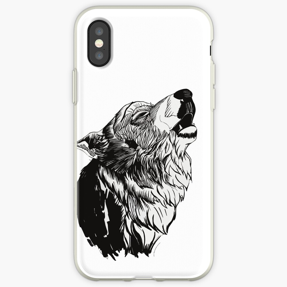 And the moon howled iPhone Case & Cover