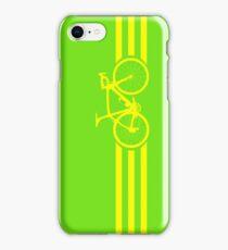 Bike Stripes Yellow iPhone Case/Skin