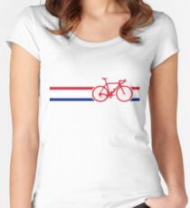 Bike Stripes British National Road Race v2 Women's Fitted Scoop T-Shirt