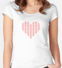 Bike Heart (Red) (Small) Women's Fitted Scoop T-Shirt