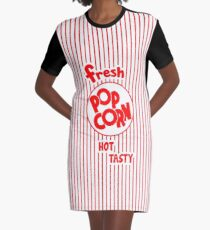 Popcorn Bag Graphic T-Shirt Dress