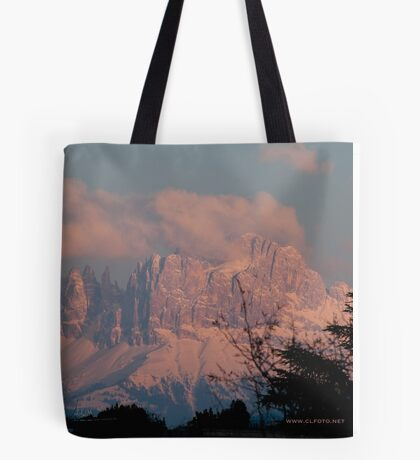 Pretty in Pink: Sunset on the Dolomites Tote Bag