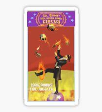 Edric Phibbs - Fire Juggler Sticker