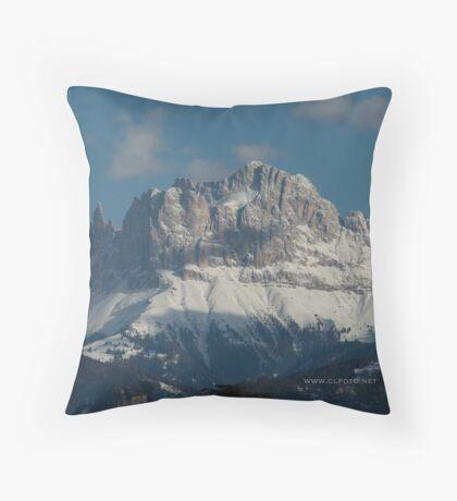 Snow on the Dolomites, Bolzano/Bozen, Italy Throw Pillow