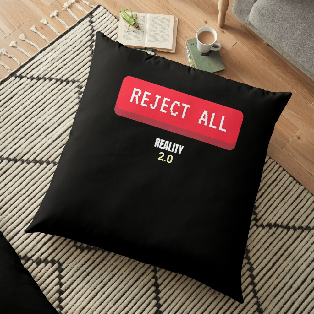 Reject All Floor Pillow