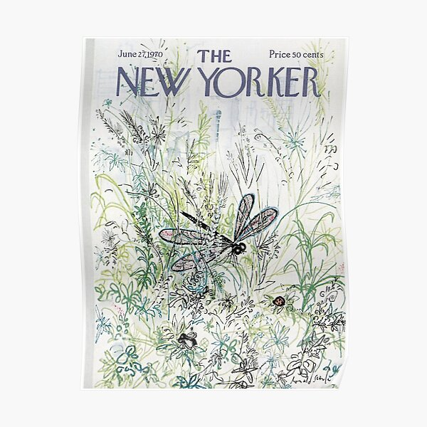 The New Yorker Insect 1970 Poster