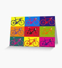 Bike Andy Warhol Pop Art Greeting Card