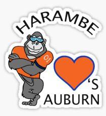Harambe Loves Auburn Alabama Sticker