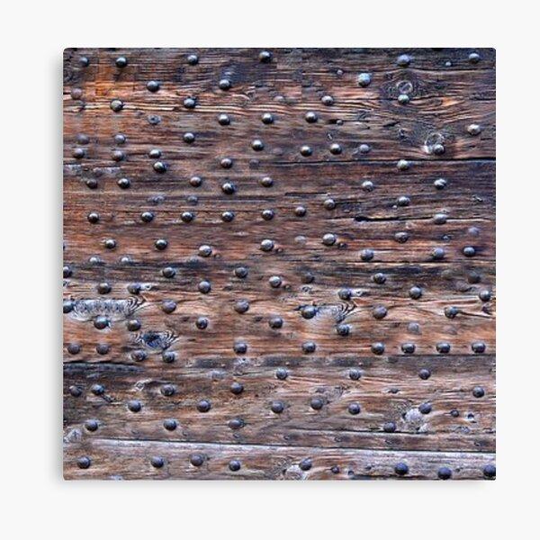 Rusty Metal Rivets Canvas Print