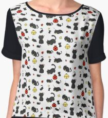 Ladybug and the cat Chiffon Top
