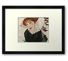 Egon Schiele - Portrait of Wally Neuzil (1912)  Framed Print