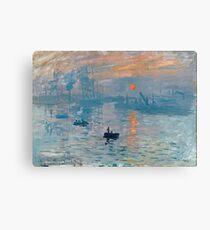 Claude Monet - Impression Sunrise 1872 Canvas Print