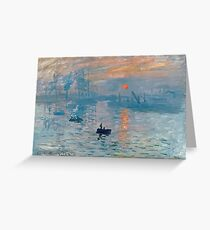 Claude Monet - Impression Sunrise 1872 Greeting Card