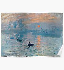 Claude Monet - Impression Sunrise 1872 Poster