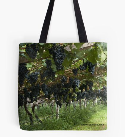 Grapes in the Castle Mareccio Vineyard, Bolzano/Bozen, Italy Tote Bag