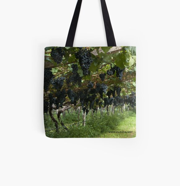 Grapes in the Castle Mareccio Vineyard, Bolzano/Bozen, Italy All Over Print Tote Bag