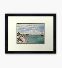 Claude Monet - Regatta At Sainte Adresse 1867 Framed Print