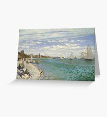 Claude Monet - Regatta At Sainte Adresse 1867 Greeting Card