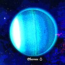 Planet Uranus in Space by Justin Beck