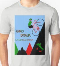 """GIRO D ITALIA BICYCLE"" Racing Advertising Print T-Shirt"