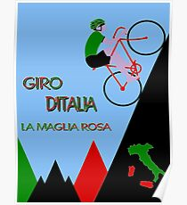 """GIRO D ITALIA BICYCLE"" Racing Advertising Print Poster"