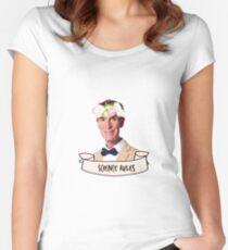 Camiseta entallada de cuello redondo Reglas de la ciencia de Bill Nye