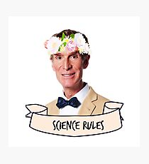 Bill Nye Science Rules Photographic Print