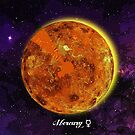 Planet Mercury in Space by Justin Beck