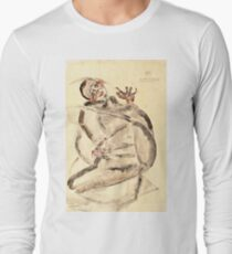 Egon Schiele - I Will Gladly Endure for Art and My Loved Ones, 1912  Long Sleeve T-Shirt