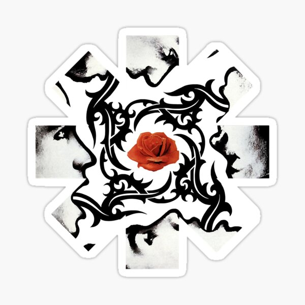 Red Hot Chilli Peppers Rose Sticker