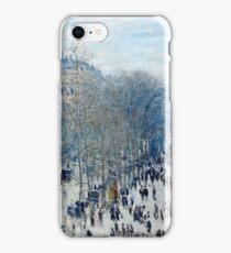 Claude Monet - Boulevard des Capucines (1873 - 1874)  iPhone Case/Skin
