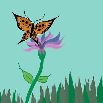 Butterfly Flower by cduby