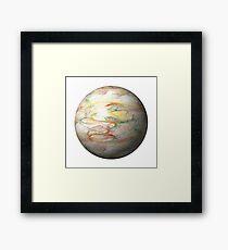Fractal Globe Framed Print