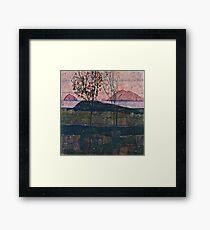 Egon Schiele - Setting Sun (1913)  Framed Print