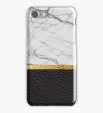 leather and marble iPhone Case/Skin