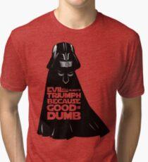 Dark Helmet - Fan art Tri-blend T-Shirt